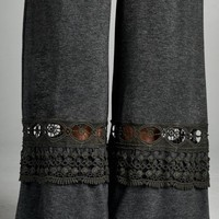 Plus Size Lace Bottom Pants