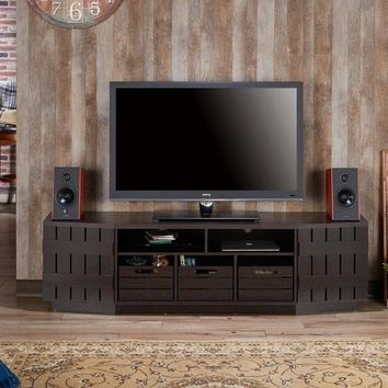 Harla Rustic 70-inch TV Stand with Removable Crates