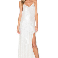 MLV London Sequin Maxi Dress in White