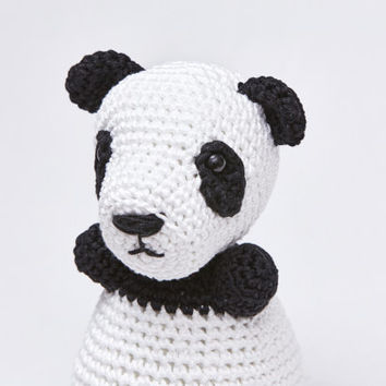 Panda Bear Amigurumi Crochet Doll Stuffed Animal Soft Toy, Panda Photo Prop Bear Newborn Gift Eco Friendly Plush Toy Doll