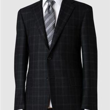 Mahogany Collection Black Windowpane Sportcoat at Hickey Freeman | Men's Tailored Clothing, Suits
