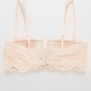 Aerie Lace Strapless Perky Bandeau , Faded Neon Orange