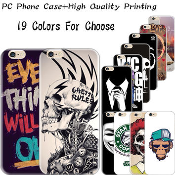For Apple iPhone 6/6S/5/5S/4/4S/6Plus/6S Plus/5C/SE Hard Plastic Back Cover Cases Case Phone Shell Love Peace Happiness Hot Top