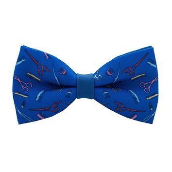 Barber Shop Blue Bow Tie