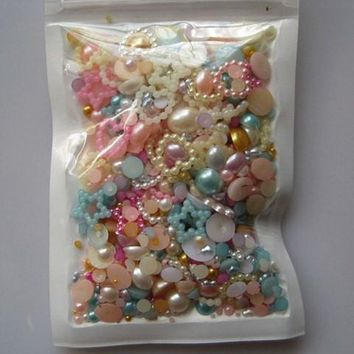20g Assorted Shapes Faux Pearl Nail Art Decorations