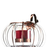 3-Wick Candle Luminary Glass Pumpkin Luminary
