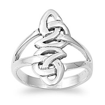 925 Sterling Silver Interconnection Wicca Celtic Infinity Ring