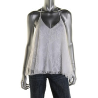 Love Fire Womens Juniors White Party Knit Halter Tank Top