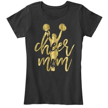 Cheer Mom Cheerleading Women's Premium Tee T-Shirt