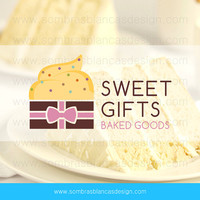 OOAK Premade Logo Design - Cake Gift - Perfect for a bakery or candy shop