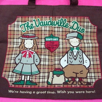 Sanrio 1992 The Vaudeville Duo Eddy & Emmy A4 Size Tote Bag