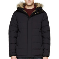 Burberry London Black Fur-hood Puffer Jacket