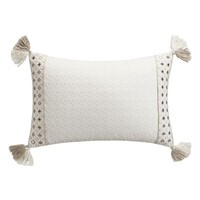 cupcakes & cashmere Embroidered Tassel Pillow | Nordstrom