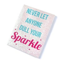 Never Let Anyone Dull Your Sparkle Wall Canvas | Claire's