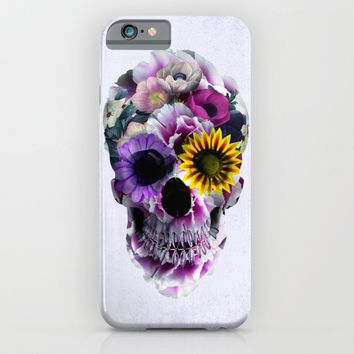 Floral Skull iPhone & iPod Case by RIZA PEKER