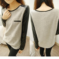 Casual Womens Ladies Loose Knitting Shirt T-shirt Long Sleeve Tops Blouse Winter
