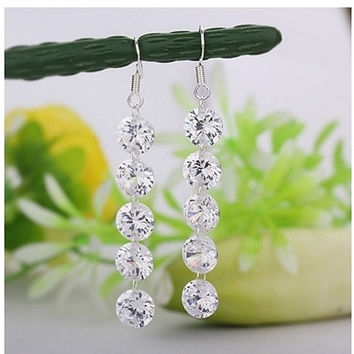 Crystal Waterfall Earrings