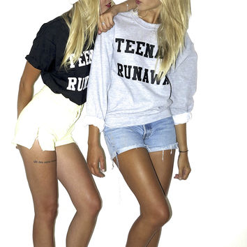 Teenage Runaway Sweatshirt (Grey)