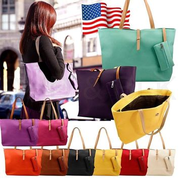 Womens Faux Leather Fashion Messenger Handbag Shoulder Bag Totes Purse