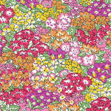 Liberty Tana Lawn Fabric - Liberty Japan - Cotton Print Fabric, Alice Garden Wonderland - Colorful Floral Scrap - Quilt, Patchwork - NT15SS9