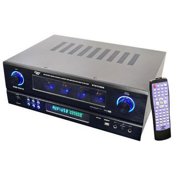 19'' Rack Mount 2000 Watt AM/FM Multi Source Receiver & Vacuum Tube Amplifier with built in Pre-Amp.