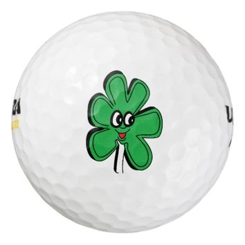 Happy Face Leaf Golf Balls