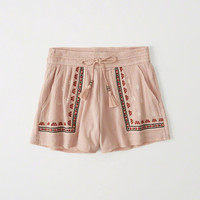 Womens Embroidered Shorts | Womens Bottoms | Abercrombie.com