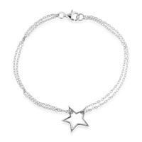 Single Star Bracelet in Sterling Silver - 7.5