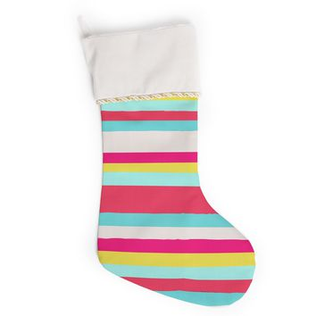 "Nika Martinez ""Girly Surf Stripes"" Christmas Stocking"