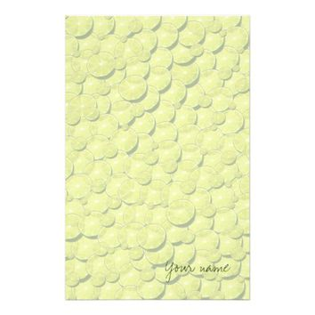 Cool Lime Slices Pattern Signature Add Your Name Stationery