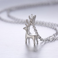 Jewelry Shiny Gift New Arrival 925 Silver Handcrafts Pendant Lock Korean Stylish Strong Character Necklace [8026330439]