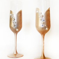 Great Gatsby Champagne Glasses - 2 glasses