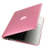 Case Star Princess Pink crystal Case / Cover SET for New 11.6-inch A1370 Apple MacBook Air with Case Star Velvet Bag