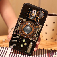 Steampunk Camera Soft TPU Skin Mobile Phone Cases For Samsung S3 S4 S5 S6 S6 edge S7 S7 edge Note 2 Note 3 Note 4 Note 5 Cover