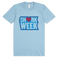 Shark Week-Unisex Light Blue T-Shirt