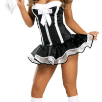 Sexy Strapless Maid Girl Halloween Costume