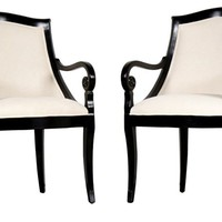 Hollywood Regency-Style Armchairs, S/2