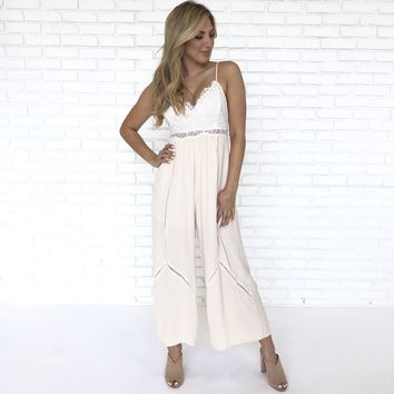 Bare It All Lace Jumpsuit