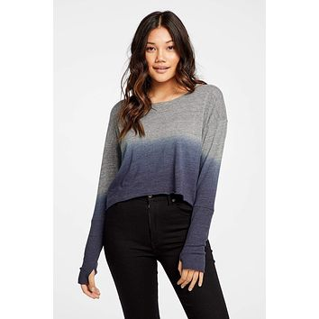 Women's Chaser Cropped Ombre Top