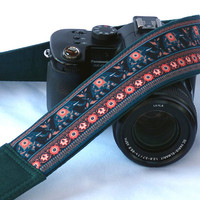 Elephants Camera Strap. Symbol of Good Luck. dSLR Camera Strap. Canon, Nikon Camera Strap. Electronics Accessories. Padded Camera Strap