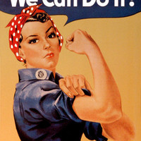 Rosie the Riveter Tin Sign at AllPosters.com