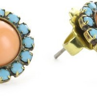 "Sorrelli ""Tropical"" Sparkling Stud Gold-Tone Earrings"