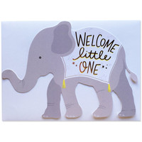 Welcome Little One Baby Die Cut Card