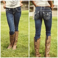 Stitched Skinny Jeans