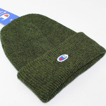 Champion Men's Knit Hat hip hop skateboard hat Green