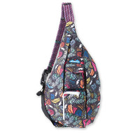 Monogrammed Kavu Rope Bag - Flutterfly | Monogram Crossbody Bag | Teens | Women | Outdoors Satchel | Gift for Her | Canvas Sling Bag