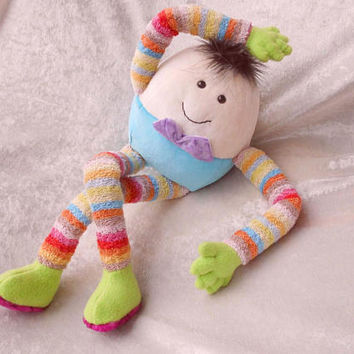 HUMPTY DUMPTY plush egg soft toy stuffed clown doll handmade NURSERY rhyme character decor plushie egg toy softie ooak fell off the wall