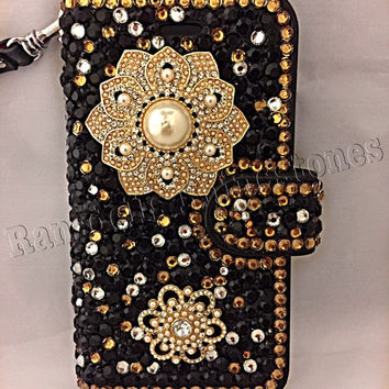 iPhone 6 wallet case, wallet phone case, iPhone 6 phone cases, wallet case, ransdell's rhinestones, bling iphone case