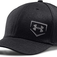 Under Armour Men's Baseball Low Crown Cap, 1254866-001 Black, M/L