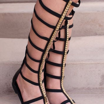 Bobbi Gladiator Sandals - Black